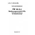 Focke-Wulf 190 A-1 Bedienungsvorschrift - Wa $9.95