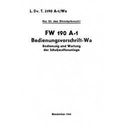 Focke-Wulf 190 A-1 Bedienungsvorschrift - Wa