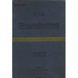 Fieseler Fi 156 Flugzeughandbuch $4.95