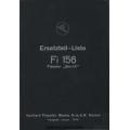 Fieseler Storch Fi-156 C-1 & C2 Ersatzteil-Liste $4.95