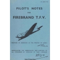Blackburn Firebrand T.F.V Pilots Notes $4.95