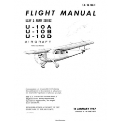 Helio T.O 1U-10A-1 U-10A, U-10B, U-10D Aircraft Flight Manual/POH  1974 $29.95