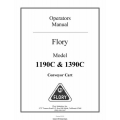 Flory 1190C & 1390C Conveyor Cart Operators Manual 2010