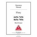 Flory 6656-7656 & 8656-7056 Diesel Sweeper Operators Manual 2011