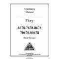 Flory 6678-7678-8678 & 70678-80678 Diesel Sweeper Operators Manual 2011