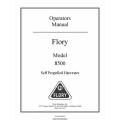 Flory 8500 Self Propelled Harvester Operators Manual 2009