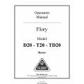 Flory D20 - T20 - TD20 Duster Operators Manual 2010