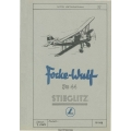 Focke Wulf FW-44 Stieglitz Flight Manual/POH 1944 - 1968 $4.95
