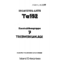 Focke-Wulf Ta-152 Ersatzteil-Liste $5.95