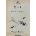 Fokker S-14 Pilots Notes 1956 $4.95