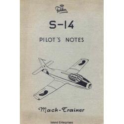 Fokker S-14 Pilots Notes 1956 $4.95