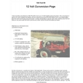 Ford 8N Tractors 12 Volt Conversion Negative Ground System Classic Manual 1952