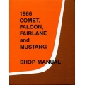 Ford Comet, Falcon, Fairlane and Mustang Cars Demo Shop Manual 1966 $5.95