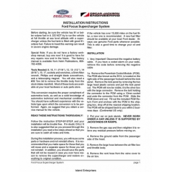 Ford Focus Supercharger System Installation Instructions $4.95