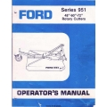 """Ford Series 951 48""""- 60""""- 72"""" Rotary Cutters Owner's and Operator's Manual"""