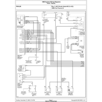 ford taurus wiring schematic image ford taurus lx system wiring diagrams 1998 5 95 on 1998 ford taurus wiring schematic