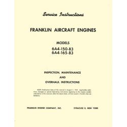 Franklin 6A4-150-B3, 6A4-165-B3 Maintenance and Overhaul $9.95