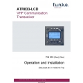 Funke ATR833-LCD VHF Communication Transceiver Operation and Installation Manual $6.95