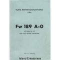 Focke-Wulf 189 A-0 Kurz-Betriebsanleitung $4.95