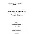Fw 190 A-1 bis A-6 Teil 6 Flugzeug-Handbuch $4.95