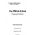 Fw 190 A-5/A-6 Teil 4 Flugzeug-Handbuch $4.95