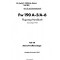 Fw 190 A-5/A-6 Teil 8B Flugzeug-Handbuch $4.95