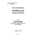 Fw 190 A-5/A-6 Teil 8C Flugzeug-Handbuch $4.95