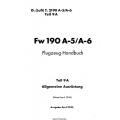 Fw 190 A-5/A-6 Teil 9A Flugzeug-Handbuch $4.95