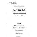 Fw 190 A-5 Teil 9B Flugzeug-Handbuch $4.95