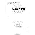 Fw 190 A-6/R1 Teil 8A Flugzeug-Handbuch $4.95