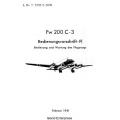 Focke-Wulf Fw 200 C-3 Bedienungsvorschrift- FI Bedienung und Wortung des Flugzeugs