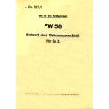 Focke-Wulf FW 58 Entwurf einer Bedienungsvorschrift für So 2.