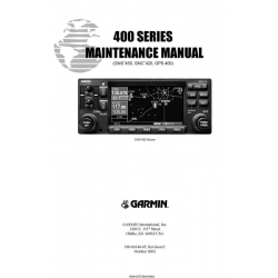 Garmin 400 series Maintenance Manual 190-00140-05 $19.95