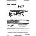 Dornier GAF T.O 1L-Do27-1 Do27 Flight Manual/POH 1969 - 1975