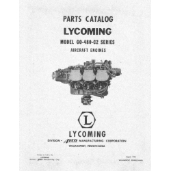 Lycoming Parts Catalog GO-480-C2 Series $13.95