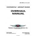 Continental GO-300-A, C, D, & E Aircraft Engine Overhaul Manual 1981 X30019