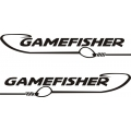 "Gamefisher Hook Boat Sticker/Decal Vinyl Graphic 12"" wide by 2.2"" high"