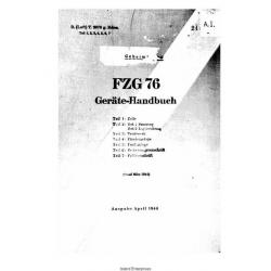 Fieseler Gerate-Handbuch FZG-76 (Manual V-1 Bomb) $5.95