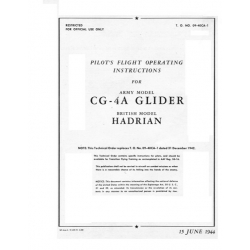Waco CG-4A Glider Operating Instruction British Model Hadrian $6.95