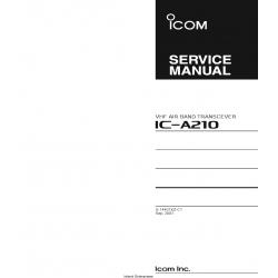 ICOM IC-A210 Service Manual $4.95