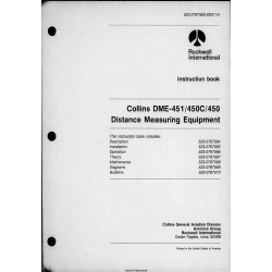 Collins DME-451-450C-450 DME 451 450C 450 Installation and Maintenance Manuals  523-0767563-00311A