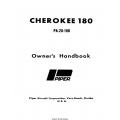 Piper Cherokee 180 PA-28-180 Owner's Handbook 761-513 $19.95