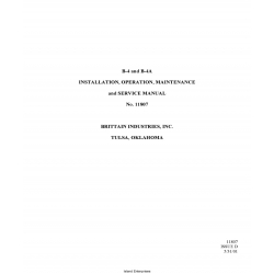 Brittain B-4 and B-4A Installation, Operation, Maintenance and Service Manual  No.11807 $29.95
