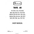 Beechcraft 95-B-D-E Travel Air Shop Manual $19.95
