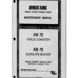 Bendix King KN 72-75 Maintenance Manual 006-05142-0002 $19.95