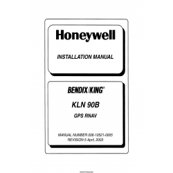 Bendix King KLN 90B GPS RNAV Installation Manual 2003 $13.95