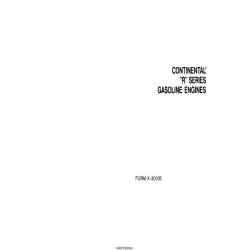 "Continental ""R"" Series Gasoline Engines x-30105 $13.95"