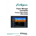 Avidyne Piper Mirage EXP5000 Primary Flight Display Pilot's Guide 600-00104-002 $9.95