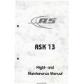 Schleicher ASK 13 Flight and Maintenance Manual 2010 $9.95
