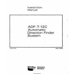 Bendix King ADF-T-12C  Automatic Direction Finder System Installation Manual $6.95
